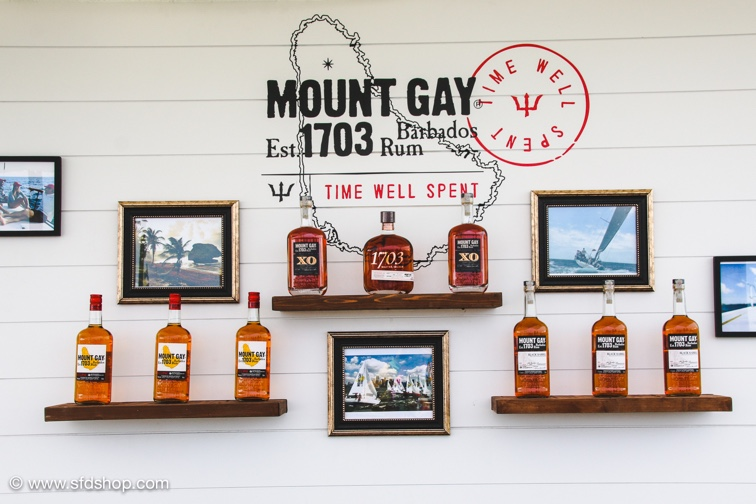 Mount Gay outdoor cocktail cafe at the Volvo Ocean Race Newport.